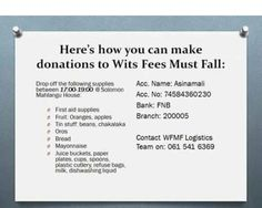 #Donation#GoFundMe#FeesMustFall#FreeQualityEducation#Education#SouthAfrica#Johannesburg#Durban#CapeTown#Accessible#HigherEducation#TertiaryEducation