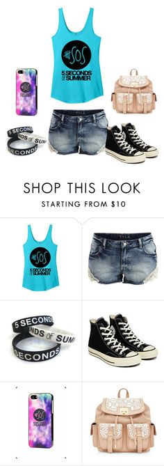 """""""I'm a huge fan!"""" by chrisantal ❤ liked on Polyvore featuring VILA, Converse, Samsung, women's clothing, women's fashion, women, female, woman, misses and juniors"""