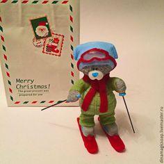 Мыло ручной работы. Ярмарка Мастеров - ручная работа. Купить мыло Мишка лыжник. Handmade. Разноцветный, новогоднее мыло, лыжник Ronald Mcdonald, Snowman, Presents, Merry, Soap, Outdoor Decor, Character, Art, Gifts