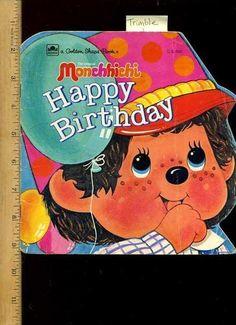 Sally Trimble The Original Monchhichi Happy Birthday Golden Shape Book 1983 | eBay