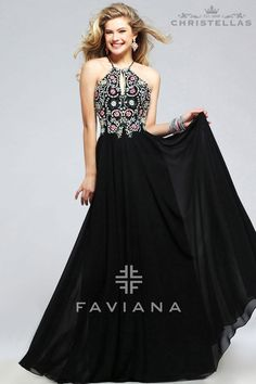 Go for the Bohemian vibe this prom! Faviana S7720 Dress / $498 - Shop the look at www.christellas.com #prom #dresses #Faviana