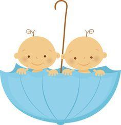 Imágenes de mellizos o gemelos para Baby Shower y Nacimiento