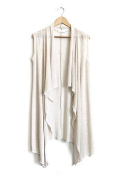 Waterfall Vest in Cream   ROOLEE