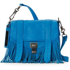 Proenza Schouler Sea Blue PS1 Fringe Pouch Crossbody (22 335 UAH) ❤ liked on Polyvore featuring bags, handbags, shoulder bags, white, white leather handbags, leather crossbody purses, fringe crossbody purse, leather crossbody handbags and leather pouch
