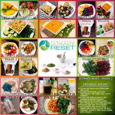 Beachbody's Ultimate Reset is a 21 day no-starvation cleanse.  The foods/recipes are absolutely delicious and I will be keeping many of these recipes in my regular meal planning rotation.  See what I've prepared?  In Phase 2, you Release the toxic compounds that are clogging your cells and stored within your tissues—like a purifying surge of clear water that flushes away years of impurities.  This program should be done with the accountability & support of a coach.  Contact me for details.
