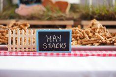 farm/garden party - hay stacks