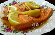 We are the DinoFamily 我們是恐龍家族: Steamed Salmon with Lemon Fun Cooking, Cooking Time, Oven, Lemon, Meals, Dishes, Baking, Breakfast, Bakken