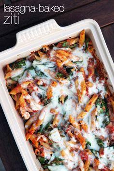 easy and delicious lasagna-baked ziti from @عبدالعزيز الجسار Bukhamseen Week for Dinner