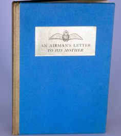 Vintage 1940 book - An Airman's Letter to His Mother.  Condition (Book/Dust Cover) VG/Missing - SOLD!