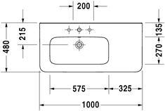 DuraStyle Umyvadlo do nábytku asymetrické #232510 | Duravit