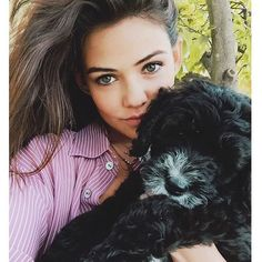 danielle campbell and dog image