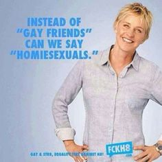 Ellen my vegan, gay, hero Lesbian Quotes, Lesbian Love, Same Love, First Love, Lgbt Rights, Human Rights, Equal Rights, Lgbt Community, Equality