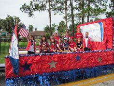American heritage girls parade float