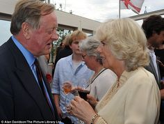 Civil: The two, who divorced in 1995 chatted amiably for a while at the bash