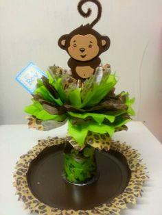 DIY Monkey Baby Shower Ideas Decorations favors desserts food