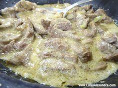 Bifinhos de Vitela com Creme de Soja - http://gostinhos.com/bifinhos-de-vitela-com-creme-de-soja/