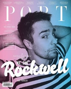 Really good portrait of Sam Rockwell and I like the way they have washed it with pink and blue. A busy front cover still manages to look clean and there is lovely use of fonts.
