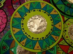 Mexican Mirrors by paintedpaper Mexican Crafts, Mexican Folk Art, Art Lessons For Kids, Art For Kids, Craft Kids, Kids Crafts, Arte Elemental, Mirror Crafts, 3rd Grade Art
