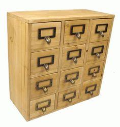 Geko 35 x 15 x 34 cm Mini Trinket Desk Organiser Trinket Storage Drawers, Wooden 12 Drawer Mini Chest with Metal Handles Geko http://www.amazon.co.uk/dp/B00I5JOB2Q/ref=cm_sw_r_pi_dp_oJIBub02Y175N