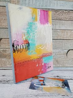 Colorful Abstract Painting Don't Get Lost in the | Etsy by Jodi Ohl#abstract #abstractart #acrylic #acrylicpainting #colorfulart Tiny Treasures, Viera, Note Cards, Abstract Art, Artsy, Lost, Paintings, Colorful, Ink