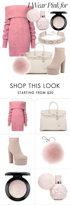 """""""Untitled #277"""" by pau-perez-532 ❤ liked on Polyvore featuring Hermès, MAC Cosmetics, DANNIJO and IWearPinkFor"""