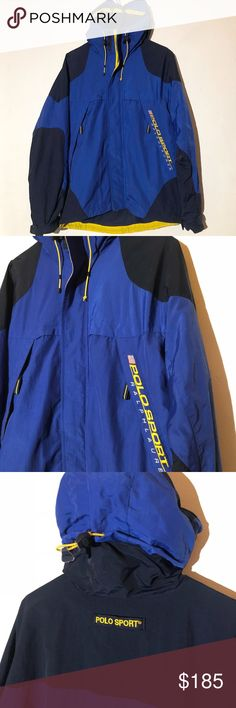 869db4f41d97 Vintage Polo Sport Tech Jacket Pristine condition Fits slightly large Polo  by Ralph Lauren Jackets   Coats Raincoats