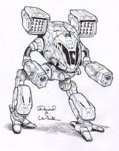 TimberWolf mech sketch by Mecha-Master.deviantart.com on @deviantART