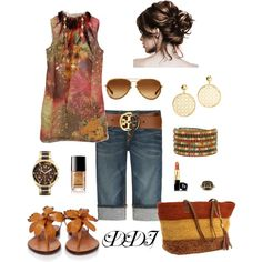 Earth Tones, created by dawndayiannelli on Polyvore