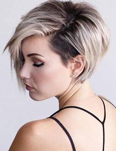Balayage Very Short Hair   High Contrast