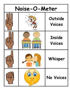 Use the Noise-O-Meter to help indicate to students what noise level is appropriate. Print, laminate, and enjoy! Preschool Classroom Rules, Jungle Theme Classroom, Kindergarten Special Education, Beginning Of Kindergarten, Classroom Posters, Beginning Of School, Classroom Themes, Preschool Activities, Kindergarten Rules