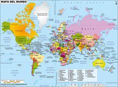 Mapa del Mundo (World #Map in #Spanish)