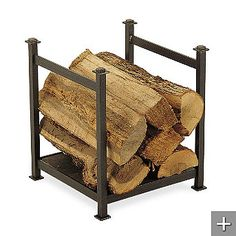 Style Selections Log Holder with Fireplace Tools $49.99 // LOWES ...