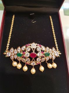 Antique Jewelry, Gold Jewelry, Beaded Jewelry, Jewelery, Indian Wedding Jewelry, Indian Jewelry, Matching Promise Rings, Maharashtrian Jewellery, Gold Choker