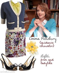 """""""Emma Pillsbury is my fashion icon"""" - how I love that I'm not the only one who noticed her style."""