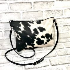 Cowhide Crossbody bag, Cowhide shoulder bag with Adjustable leather strap, Eco Friendly Faux cowhide leather, Cowhide Purse, Handbag, Cowhide Fabric, Cowhide Purse, Cowhide Leather, Clutch Bag, Crossbody Bag, Gifts For My Sister, Shoulder Bag, Purses, Eco Friendly