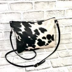 Cowhide Crossbody bag, Cowhide shoulder bag with Adjustable leather strap, Eco Friendly Faux cowhide leather, Cowhide Purse, Handbag, Cowhide Fabric, Cowhide Purse, Cowhide Leather, Wallet Sewing Pattern, Western Purses, Clutch Bag, Crossbody Bags, Shoulder Bag, Cow Hide