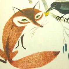 fox illustration (the fox & the raven)