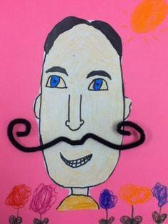 Bria332s art on Artsonia Dali Portrait 1st grade art lesson