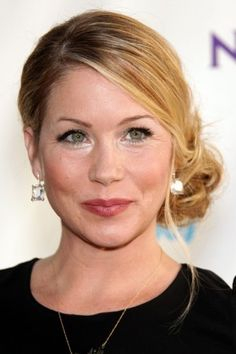 Christina Applegate Delicate Celebrity Bun Hairstyles 2015 Summer
