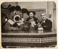 Captain Kangaroo:  Dancing Bear, Bunny Rabbit, Captain Kangaroo, Grandfather Clock, Mister Moose, and Mister Green Jeans.