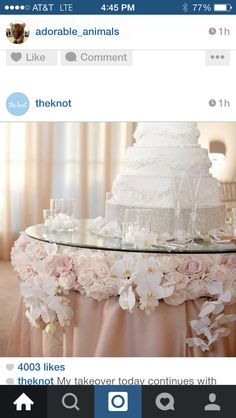 Love the cake and table