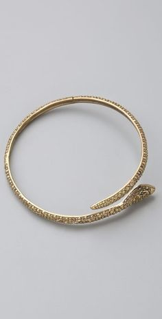 Alkemie Jewelry Textured Snake Bangle thestylecure.com