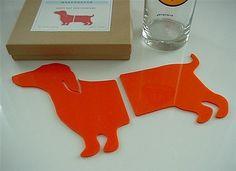 Wiener Orange Coasters