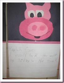 Create pig and write about how you would trick the wolf.