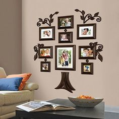 Family Tree Photo Collage 9 Piece Picture Frame Set Wall Art Home Decor Gift for sale online Family Tree Picture Frames, Family Tree With Pictures, Family Tree Photo, Collage Picture Frames, Collage Photo, Family Wall Decor, Family Tree Wall, Home Decor Wall Art, Tree Collage