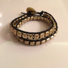 A personal favorite from my Etsy shop https://www.etsy.com/listing/255251012/multi-wrap-gold-tone-braceletleather