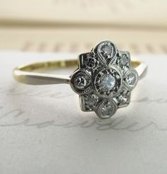 Antique Engagement Ring -- Absolutely gorgeous! This is one ring I would HAVE to say yes to!! Wow