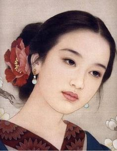 Gueixa Geisha japão japain china - By Zhao Guojing (赵国经) and Wang Meifang (王美芳), from China - oil painting - [Detail] Classic Art, Face Art, Amazing Art, Female Art, Art, Portrait Painting, Portrait Art, Beautiful Art, Chinese Artists