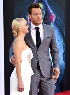 Chris Pratt and Anna Faris - Guardians of the Galaxy Premiere