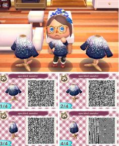 Sparkly tee top animal crossing new leaf QR code